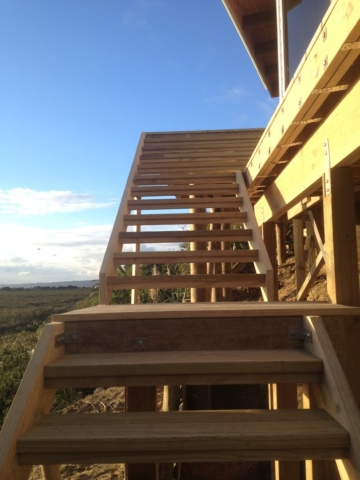 steps up to new deck