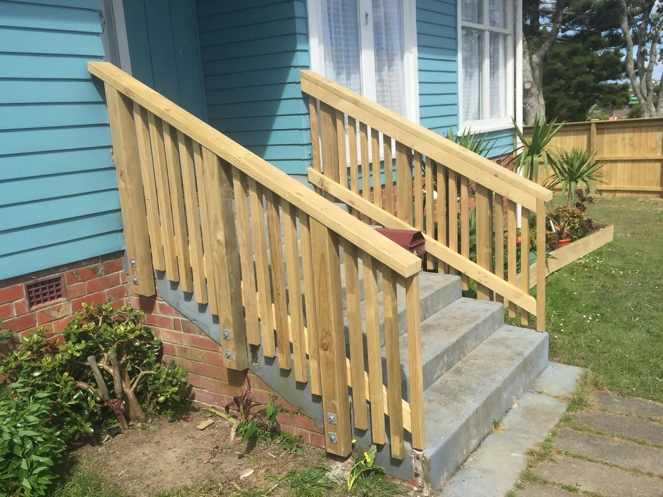 railing built on steps