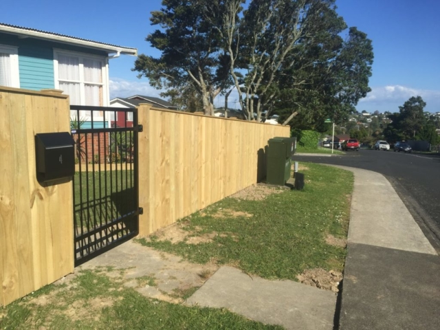 new fence and gate