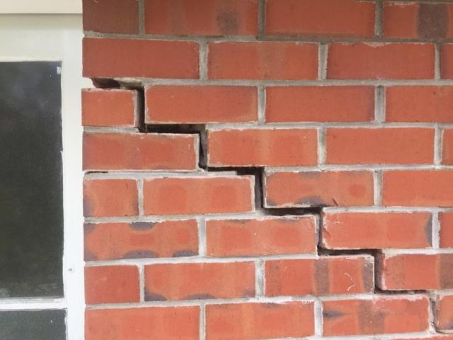 cracked brickwork repaired